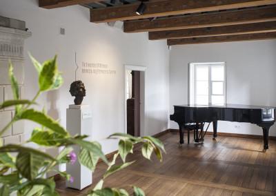 Pokój Urodzenia Fryderyka Chopina. Ekspozycja stała wDomu Urodzenia Fryderyka Chopina wŻelazowej Woli (oddział Muzeum Fryderyka Chopina wNIFC). Fot.M. Czechowicz / NIFC.