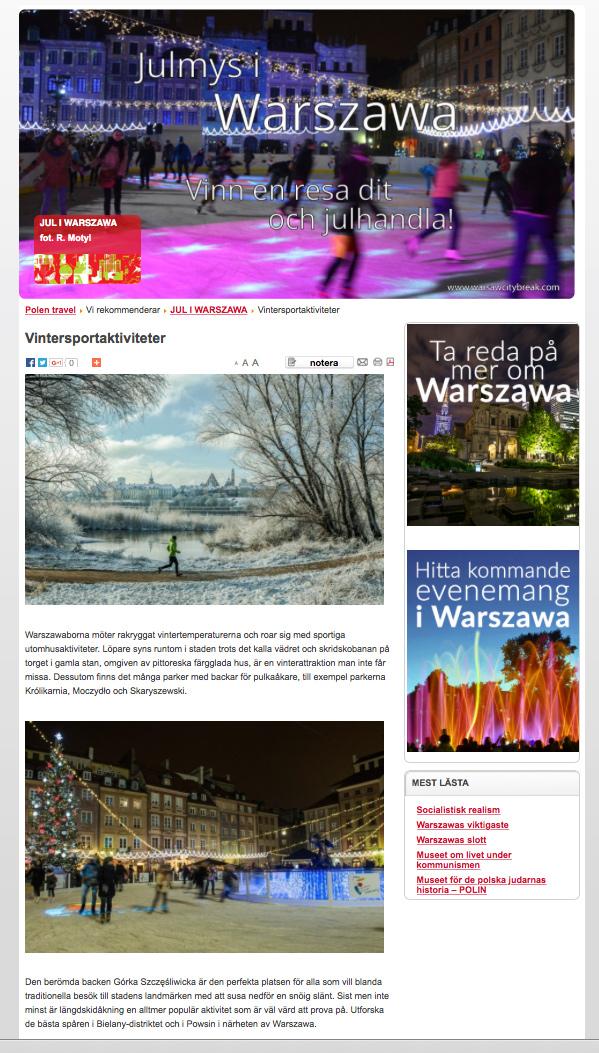 Warsaw City Break in Sweden