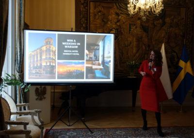 Warszawa promuje się najubileuszowym evencie LOT wSztokholmie
