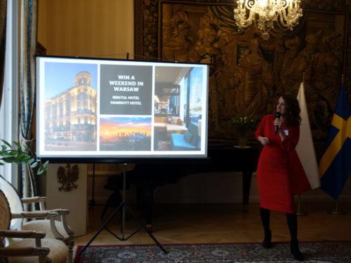 Warszawa promuje się na jubileuszowym evencie LOT w Sztokholmie