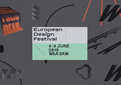 European Design Festival już wczerwcu zagości wWarszawie