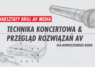 Warsztaty zBrill AV Media