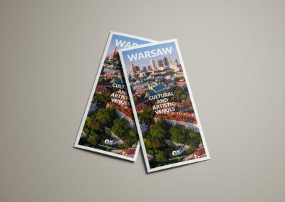 Broszura 'Warsaw – cultural and artistic venues'
