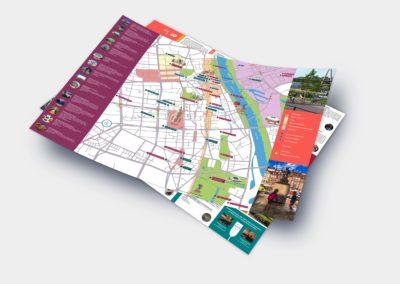 """Mapa """"Best of Warsaw City Tours"""" whotelach członkowskich WOT"""