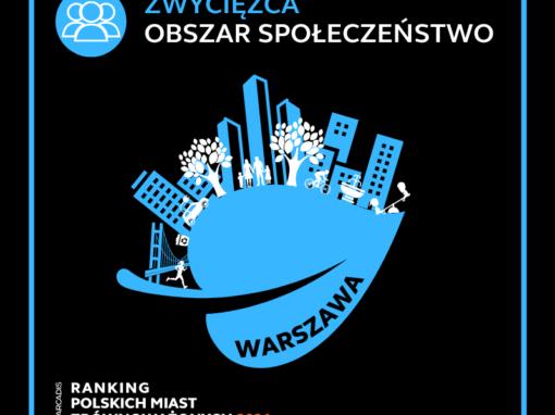Warszawa wygrywa wRankingu Polskich Miast Zrównoważonych